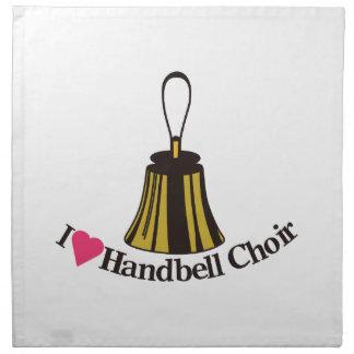 I Love bell Choir Cloth Napkin