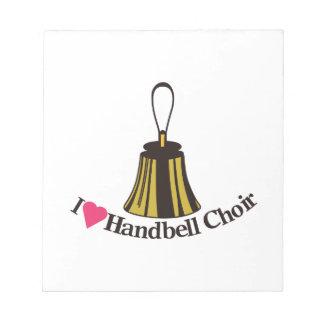 I Love bell Choir Notepad
