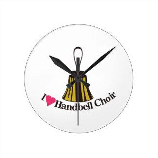 I Love bell Choir Round Clock