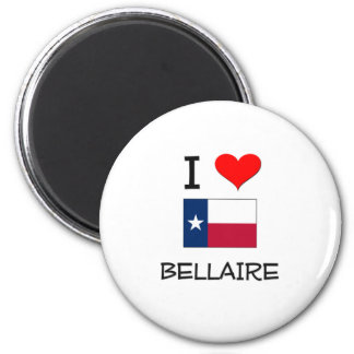 I Love Bellaire Texas 2 Inch Round Magnet