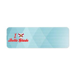 I Love Belle Glade, Florida Custom Return Address Labels