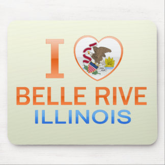 I Love Belle Rive, IL Mouse Pads