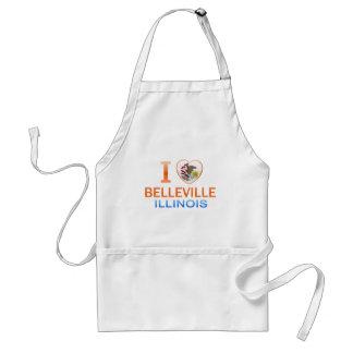 I Love Belleville, IL Adult Apron