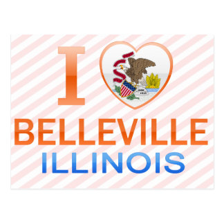 I Love Belleville, IL Postcard