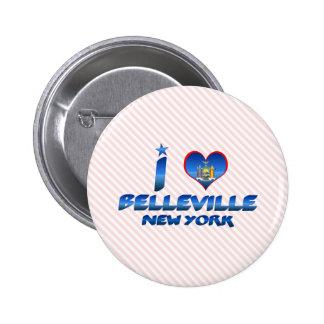 I love Belleville, New York Button