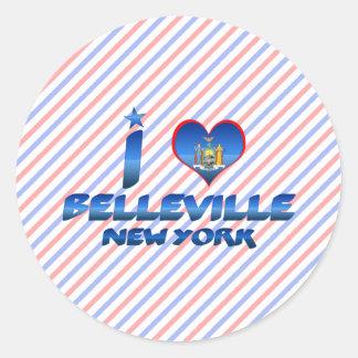 I love Belleville, New York Classic Round Sticker