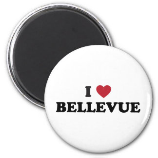 I Love Bellevue Washington 2 Inch Round Magnet