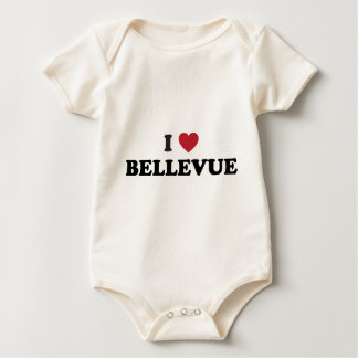 I Love Bellevue Washington Baby Bodysuit