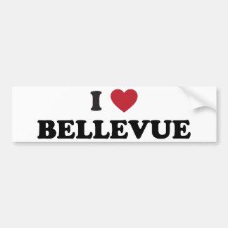 I Love Bellevue Washington Car Bumper Sticker