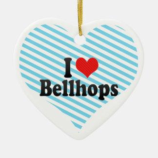 I Love Bellhops Ceramic Ornament