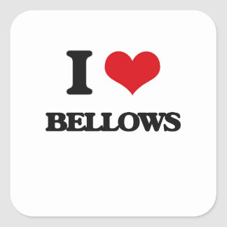 I Love Bellows Square Sticker