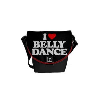 I LOVE BELLY DANCE MESSENGER BAG