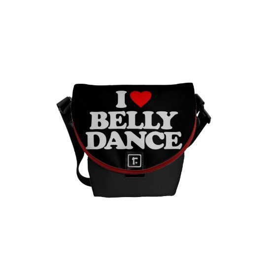 I LOVE BELLY DANCE MESSENGER BAG