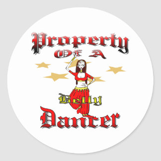 I Love Belly Dancers Classic Round Sticker