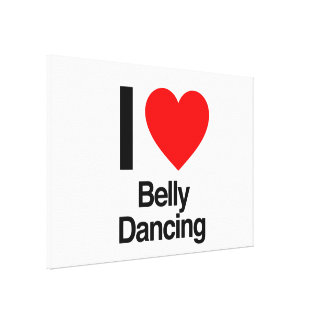 i love belly dancing stretched canvas print
