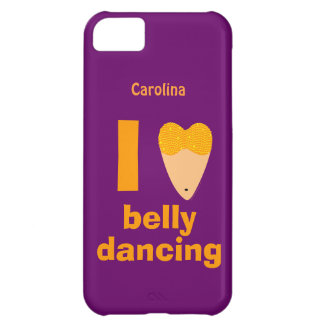 I Love Bellydancing Dancer Custom Name iphone 5 Cover For iPhone 5C