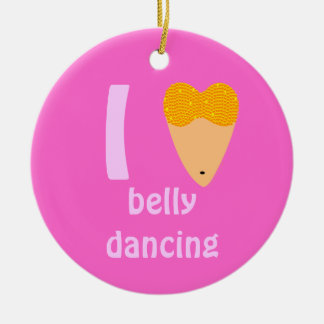 I Love Bellydancing Dancer Torso (I Heart) Ceramic Ornament