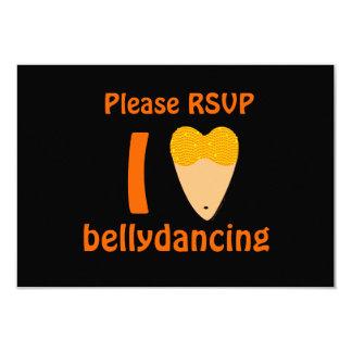 I Love Bellydancing Dancer Torso (I Heart) 3.5x5 Paper Invitation Card