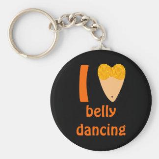 I Love Bellydancing Dancer Torso (I Heart) Keychain