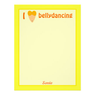 I Love Bellydancing Dancer Torso (I Heart) Letterhead