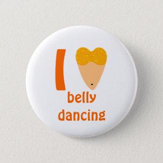 I Love Bellydancing Dancer Torso (I Heart) Pinback Button