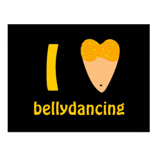 I Love Bellydancing Dancer Torso (I Heart) Postcard