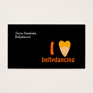 I Love Bellydancing Torso Heart Belly Dance Business Card