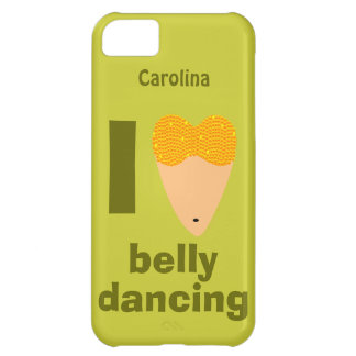 I Love Bellydancing Whimsical Custom Name iphone 5 Cover For iPhone 5C