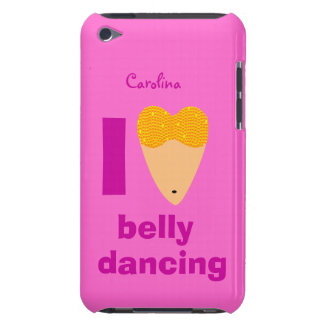 I Love Bellydancing Whimsical Dancer Custom Name iPod Touch Case-Mate Case