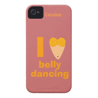 I Love Bellydancing Whimsical Dancer Custom Name iPhone 4 Case-Mate Cases
