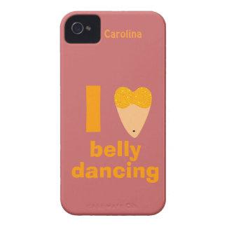 I Love Bellydancing Whimsical Dancer Custom Name Case-Mate iPhone 4 Case