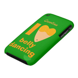 I Love Bellydancing Whimsical Dancer Custom Name iPhone 3 Case