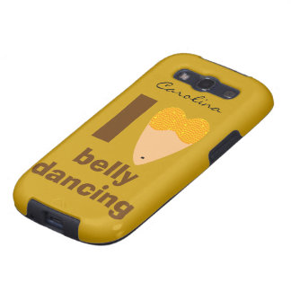 I Love Bellydancing Whimsical Dancer Samsung Cover Samsung Galaxy SIII Cases