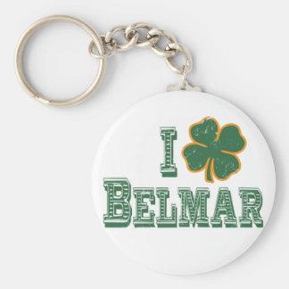 I love Belmar - St. Patrick's Day Keychain