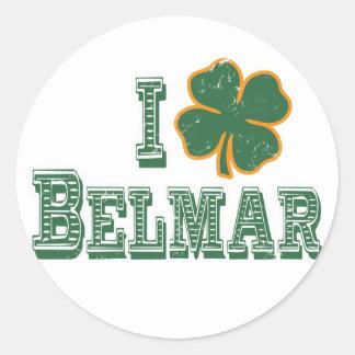 I love Belmar - St. Patrick's Day Round Stickers