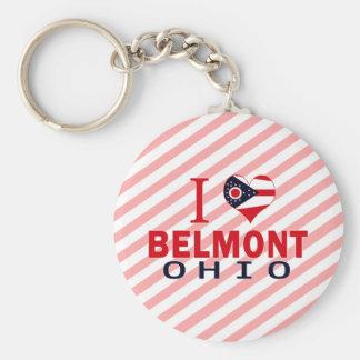 I love Belmont Ohio Keychains