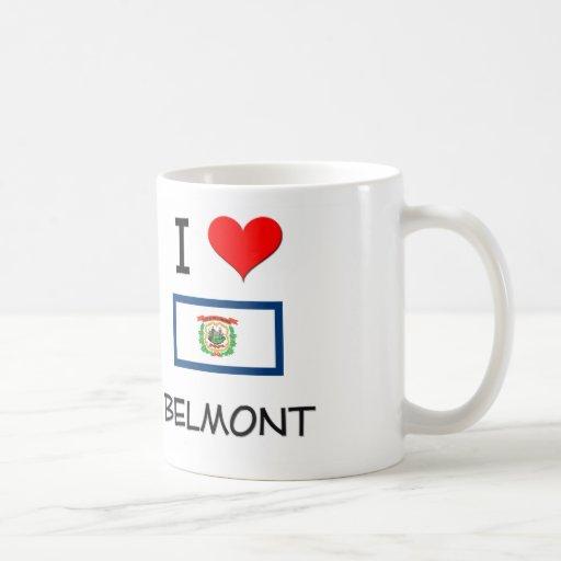 I Love Belmont West Virginia Mugs