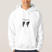 I Love Belties - Black White Belted Galloway Cows Hoodie