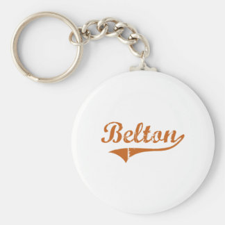 I Love Belton Texas Basic Round Button Keychain