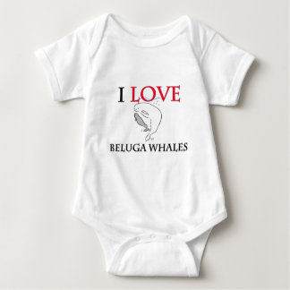 I Love Beluga Whales Baby Bodysuit