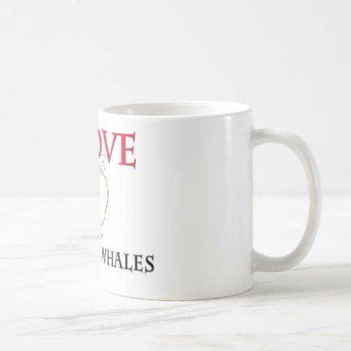 I Love Beluga Whales Classic White Coffee Mug