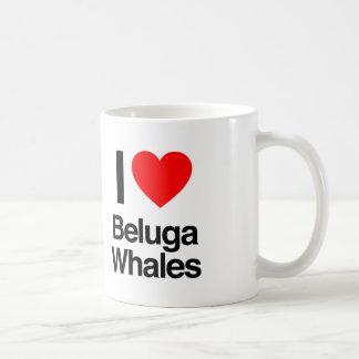 i love beluga whales coffee mug