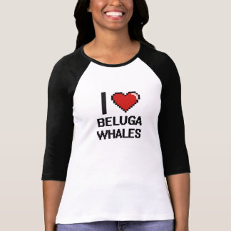 I love Beluga Whales Digital Design T-Shirt