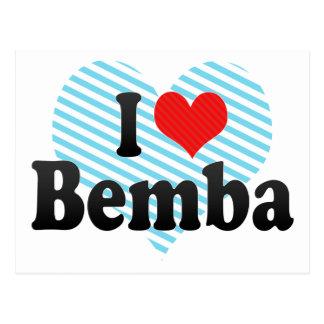 I Love Bemba Postcard