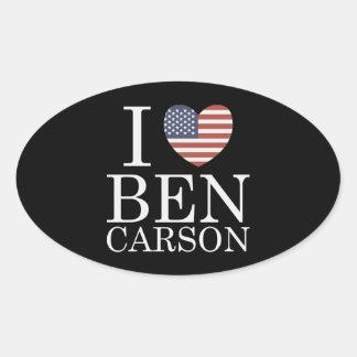 I Love Ben Carson Oval Sticker