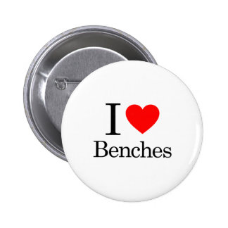 I Love Benches Button