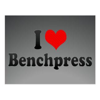 I love Benchpress Postcard