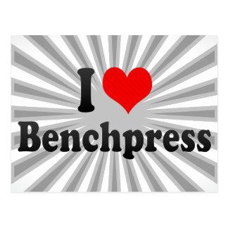 I love Benchpress Postcards