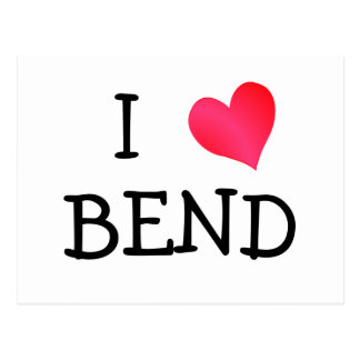 I Love Bend Postcard