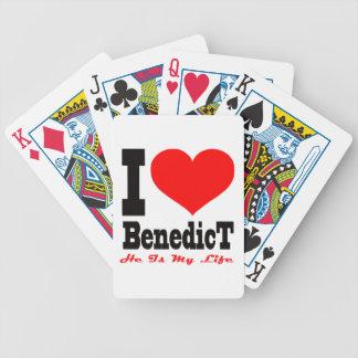 I Love Benedict. He Is My Life Bicycle Card Decks